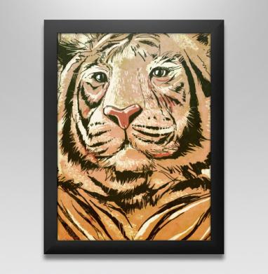 Тигры, Постер в чёрной раме