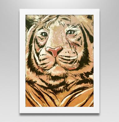 Тигры, Постер в белой раме