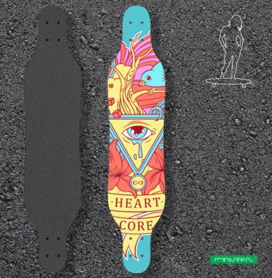 Heart core - Наклейки на лонгборд