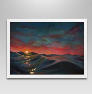 Ночь перед штормом - Постер в белой раме