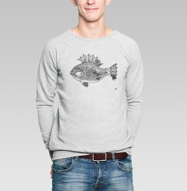 Панк рыба - Купить мужские свитшоты с рыбой в Москве, цена мужских свитшотов с рыбой  с прикольными принтами - магазин дизайнерской одежды MaryJane