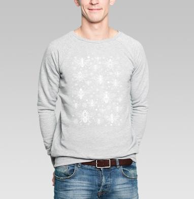 белые мухи - Купить мужские свитшоты с насекомыми в Москве, цена мужских свитшотов с насекомыми  с прикольными принтами - магазин дизайнерской одежды MaryJane