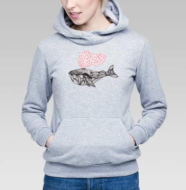 Сигналы Кита - Купить детские толстовки с рыбой в Москве, цена детских толстовок с рыбой  с прикольными принтами - магазин дизайнерской одежды MaryJane