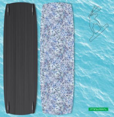 Голубой дудл - Наклейки на кайтсерфинг/вэйк