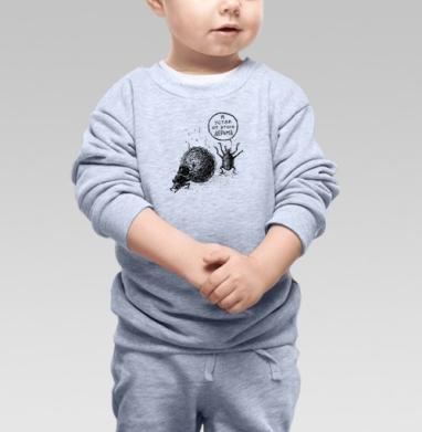 СКАРАБЕЙ, Cвитшот Детский серый меланж