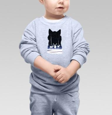 Снежные олешки - Купить детские свитшоты с волками в Москве, цена детских свитшотов с волками  с прикольными принтами - магазин дизайнерской одежды MaryJane