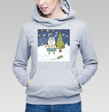 Девочка-зайка - Купить детские толстовки Новый год в Москве, цена детских толстовок новогодних  с прикольными принтами - магазин дизайнерской одежды MaryJane