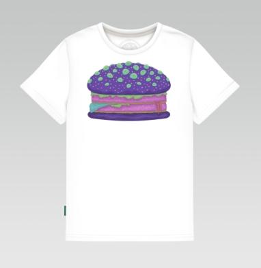 Детская футболка белая 160гр - Инопланетный бургер