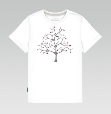 Детская футболка белая 160гр - Tree Of Bones