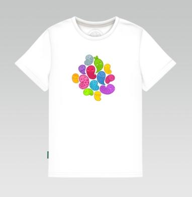 Детская футболка белая 160гр - Веселая кучка