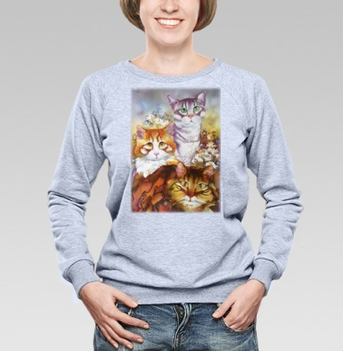 Из жизни котиков - Купить детские свитшоты красивые в Москве, цена детских свитшотов красивых  с прикольными принтами - магазин дизайнерской одежды MaryJane