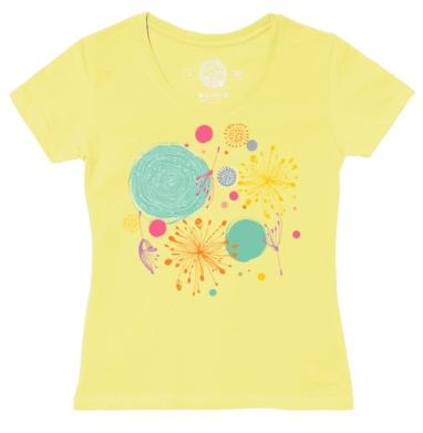 Футболка женская желтая - В весеннем воздухе