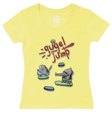 Футболка женская желтая - Хундсгугель джамп...