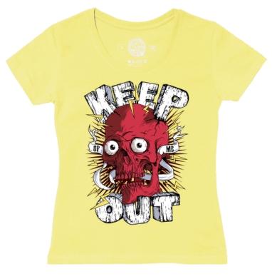 Футболка женская желтая - Keep out