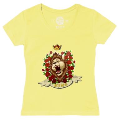 Футболка женская желтая - Король лев