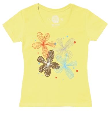 Футболка женская желтая - Прозрачный день