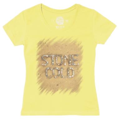 Футболка женская желтая - STONE COLD