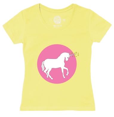 Футболка женская желтая - white_unicorn