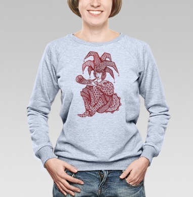 Лиричный скоморох - Купить детские свитшоты этно в Москве, цена детских свитшотов этно  с прикольными принтами - магазин дизайнерской одежды MaryJane