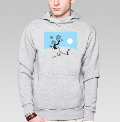 Winter ninja and little rabbit - Купить мужские толстовки Ниндзя в Москве, цена мужских  Ниндзя  с прикольными принтами - магазин дизайнерской одежды MaryJane
