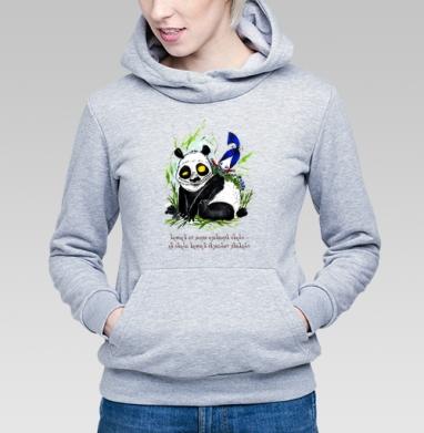 Анфиса и панда, Толстовка Женская серый меланж