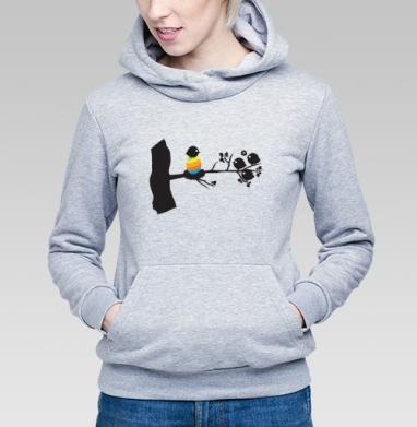 Birthofcolor - Купить детские толстовки с птицами в Москве, цена детских толстовок с птицами  с прикольными принтами - магазин дизайнерской одежды MaryJane