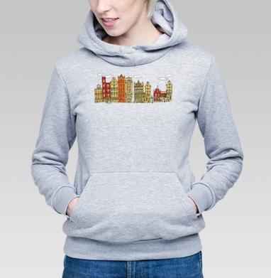 Цветной Амстердам - Купить детские толстовки с городами в Москве, цена детских толстовок с городами  с прикольными принтами - магазин дизайнерской одежды MaryJane