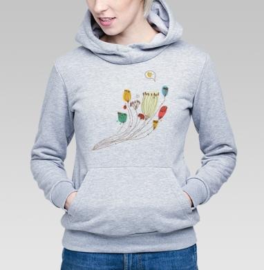 Цветы говорят о любви - Купить детские толстовки романтика в Москве, цена детских толстовок романтических  с прикольными принтами - магазин дизайнерской одежды MaryJane