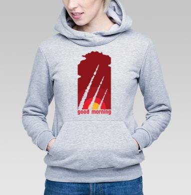 Доброе утро - Купить детские толстовки с оружием в Москве, цена детских  с оружием  с прикольными принтами - магазин дизайнерской одежды MaryJane