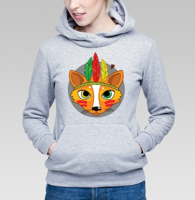 Фокс - Купить детские толстовки с индейцами в Москве, цена детских толстовок с индейцами  с прикольными принтами - магазин дизайнерской одежды MaryJane