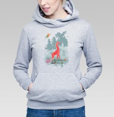 Жираф-мухомор в сказочном лесу - Купить детские толстовки со сказками в Москве, цена детских толстовок со сказками  с прикольными принтами - магазин дизайнерской одежды MaryJane
