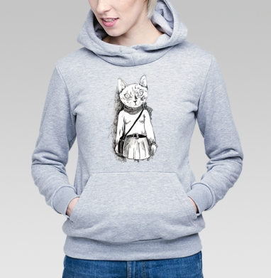 Киса-хипста - Купить детские толстовки модные в Москве, цена детских толстовок модных  с прикольными принтами - магазин дизайнерской одежды MaryJane