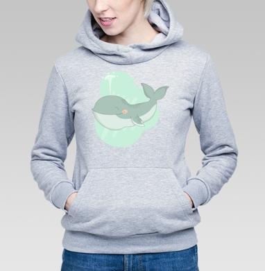 Кит улыбака - Купить детские толстовки милые в Москве, цена детских толстовок милых  с прикольными принтами - магазин дизайнерской одежды MaryJane