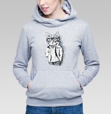 Котэ-хипстэ - Купить детские толстовки модные в Москве, цена детских толстовок модных  с прикольными принтами - магазин дизайнерской одежды MaryJane