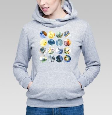 Круги - Купить детские толстовки абстрактные в Москве, цена детских толстовок абстрактных  с прикольными принтами - магазин дизайнерской одежды MaryJane