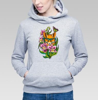 Лиса в очечах - Купить детские толстовки с бабочками в Москве, цена детских толстовок с бабочкой с прикольными принтами - магазин дизайнерской одежды MaryJane