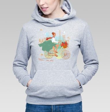Paris chic - Купить детские толстовки с велосипедом в Москве, цена детских толстовок с велосипедом  с прикольными принтами - магазин дизайнерской одежды MaryJane