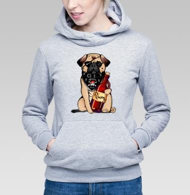 Pirate pug - Купить детские толстовки алкоголь в Москве, цена детских толстовок с алкоголем с прикольными принтами - магазин дизайнерской одежды MaryJane