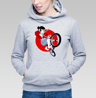 Путь самурая - Купить детские толстовки с велосипедом в Москве, цена детских толстовок с велосипедом с прикольными принтами - магазин дизайнерской одежды MaryJane