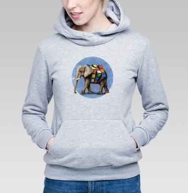 Слон Рубика - Толстовки женские с животными
