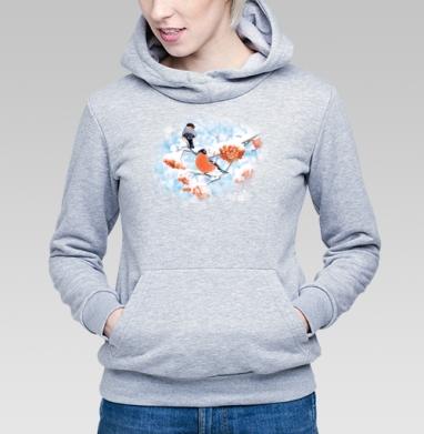 Снегири - Купить детские толстовки ретро в Москве, цена детских толстовок ретро  с прикольными принтами - магазин дизайнерской одежды MaryJane