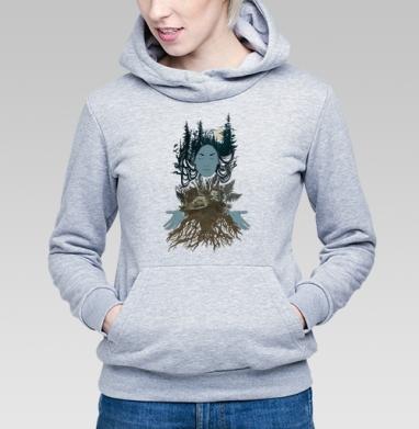 Сосновый лес - Купить детские толстовки с грибами в Москве, цена детских толстовок с грибами с прикольными принтами - магазин дизайнерской одежды MaryJane