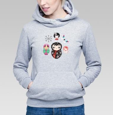 Весёлые матрёшки - Купить детские толстовки с бабочками в Москве, цена детских толстовок с бабочкой с прикольными принтами - магазин дизайнерской одежды MaryJane