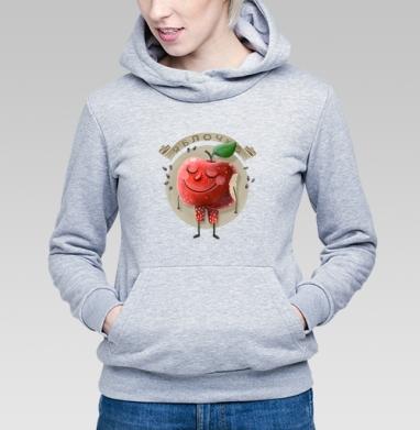 Яблочко - Купить детские толстовки с фруктами в Москве, цена детских толстовок с фруктами  с прикольными принтами - магазин дизайнерской одежды MaryJane