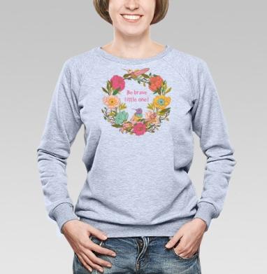 Цветочный орнамент с птицами и цветами - Купить детские свитшоты паттерн в Москве, цена детских свитшотов с паттерном  с прикольными принтами - магазин дизайнерской одежды MaryJane