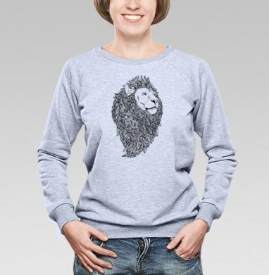 Грива - Купить женские свитшоты с природой в Москве, цена женских свитшотов с природой  с прикольными принтами - магазин дизайнерской одежды MaryJane