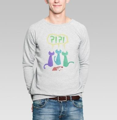 3 Котэ и Рыба - Купить мужские свитшоты с рыбой в Москве, цена мужских свитшотов с рыбой  с прикольными принтами - магазин дизайнерской одежды MaryJane