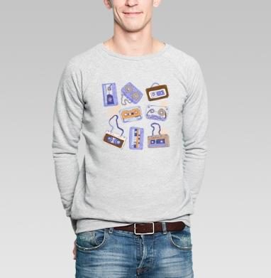Аудио кассеты - Купить мужские свитшоты ретро в Москве, цена мужских свитшотов ретро  с прикольными принтами - магазин дизайнерской одежды MaryJane