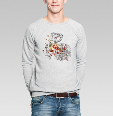 Цветочные брызги - Купить мужские свитшоты романтика в Москве, цена мужских  романтических  с прикольными принтами - магазин дизайнерской одежды MaryJane