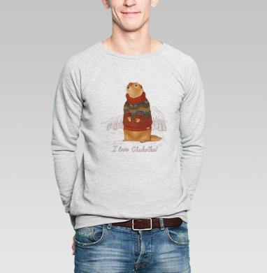 Евражка в свитере - Купить мужские свитшоты с природой в Москве, цена мужских свитшотов с природой  с прикольными принтами - магазин дизайнерской одежды MaryJane